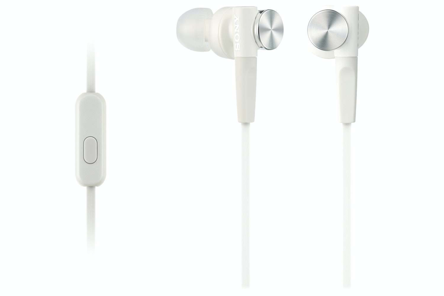 Sony MDR-XB50AP Extra Bass In Ear Headphones | White