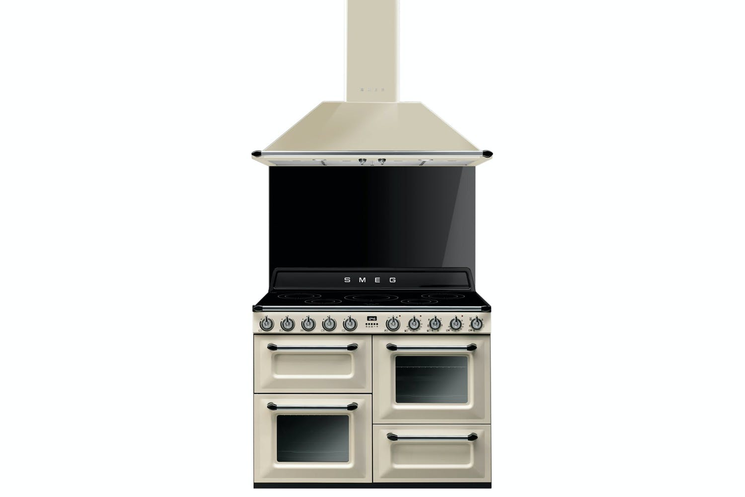 Smeg Victoria 110cm Induction Range Cooker Cream Ireland Freestanding Electric Oven Stove Stainless Steel Winning