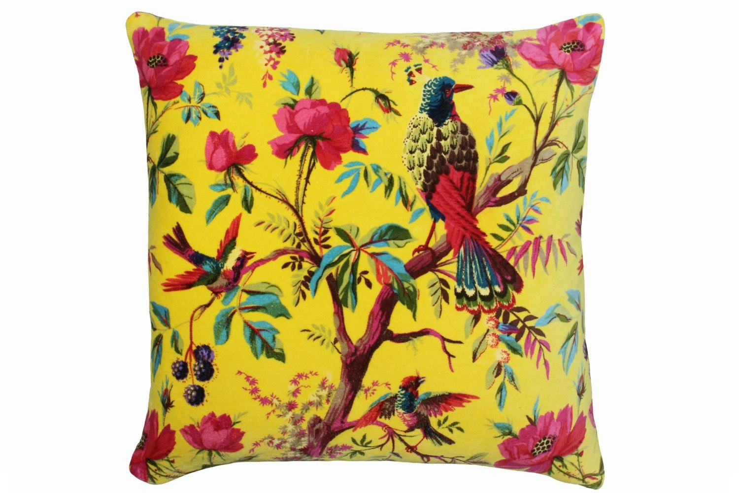 Paradise Feather Filled Cushion 50x50 | Yellow