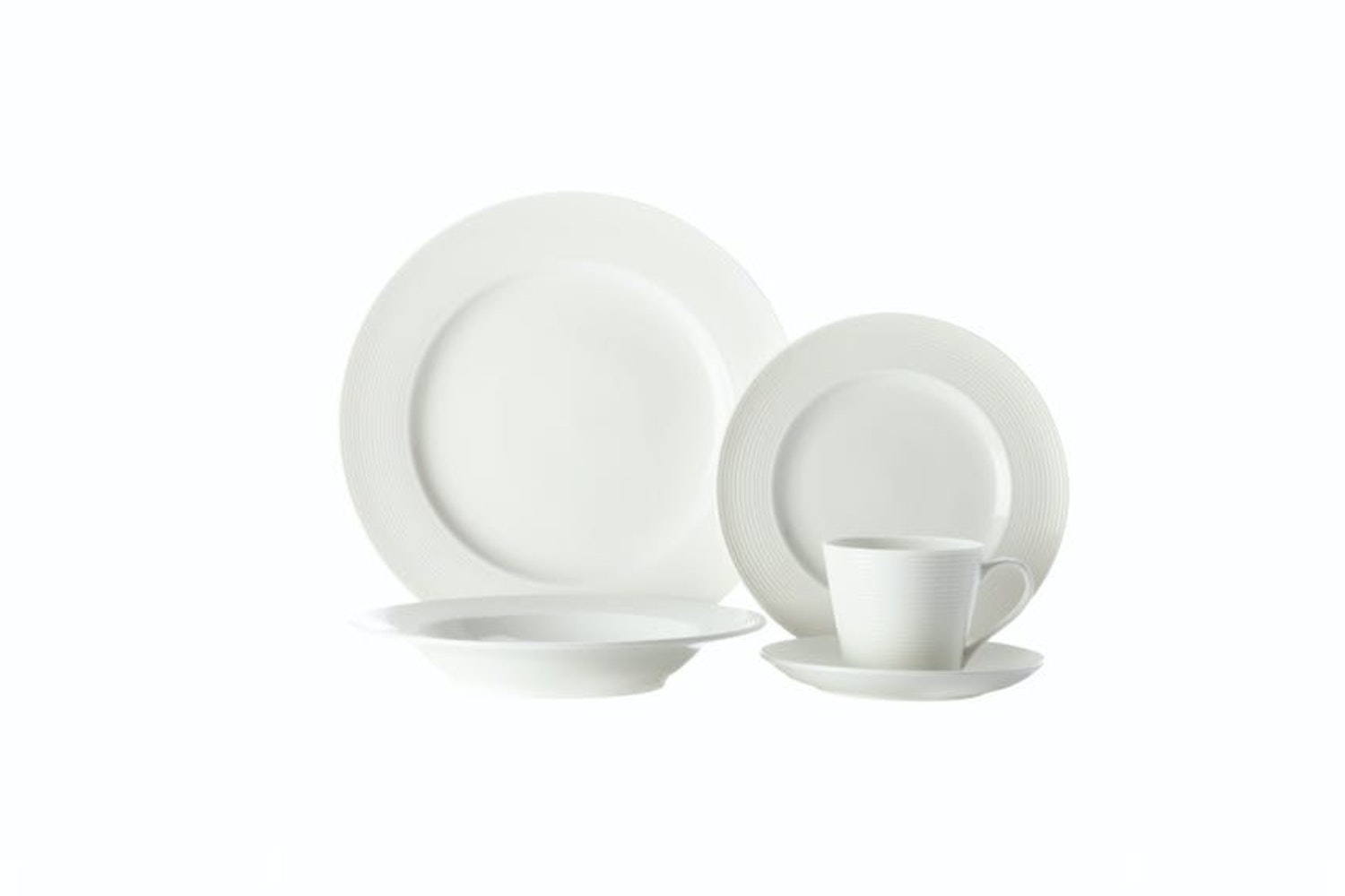 Casual White Evolve Dinner Set | 20 Piece