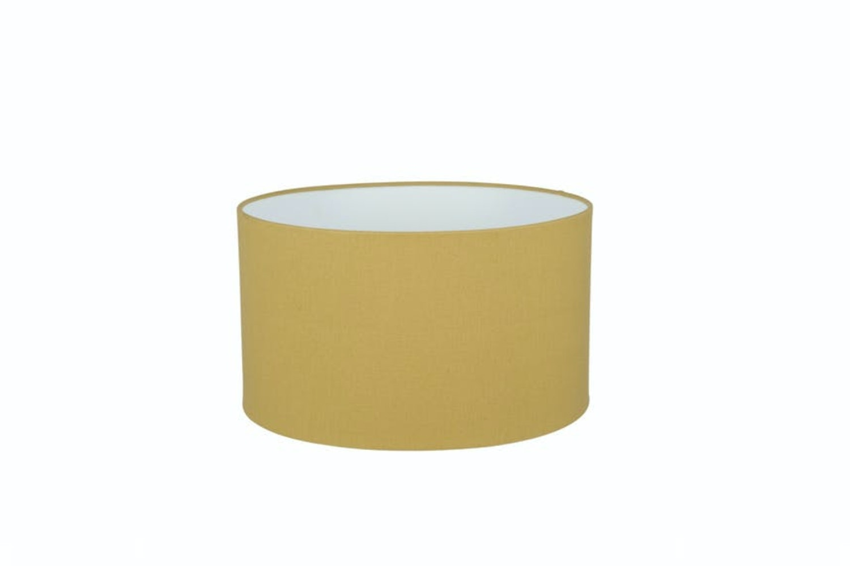 Olive Handloom Cylinder Shade 30 Cm