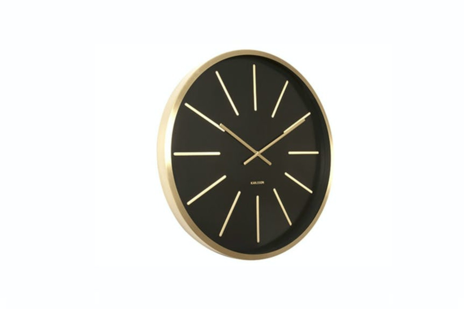 Wall Clock Maxiemus Brass Station | Black
