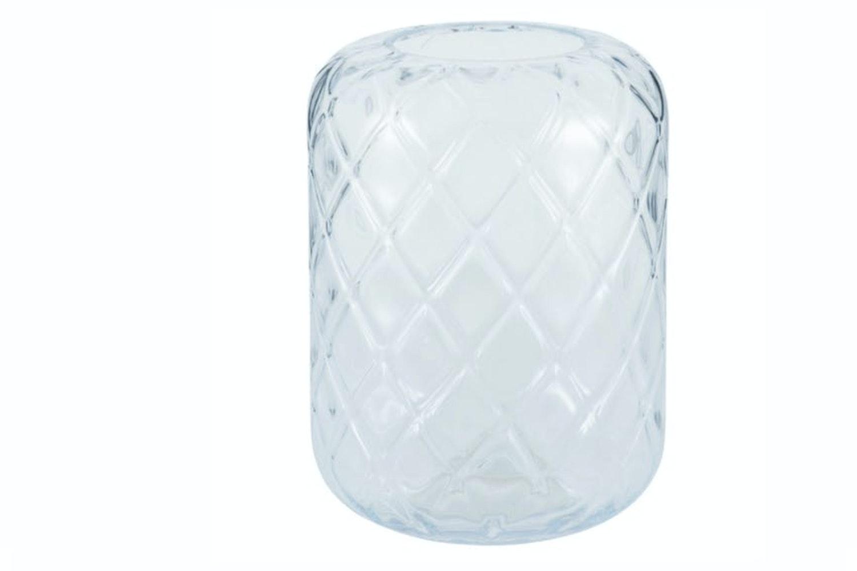 Clear Glass Quadrant Vase | Large