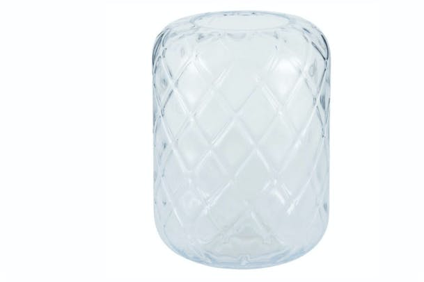 Clear Glass Quadrant Vase | Large