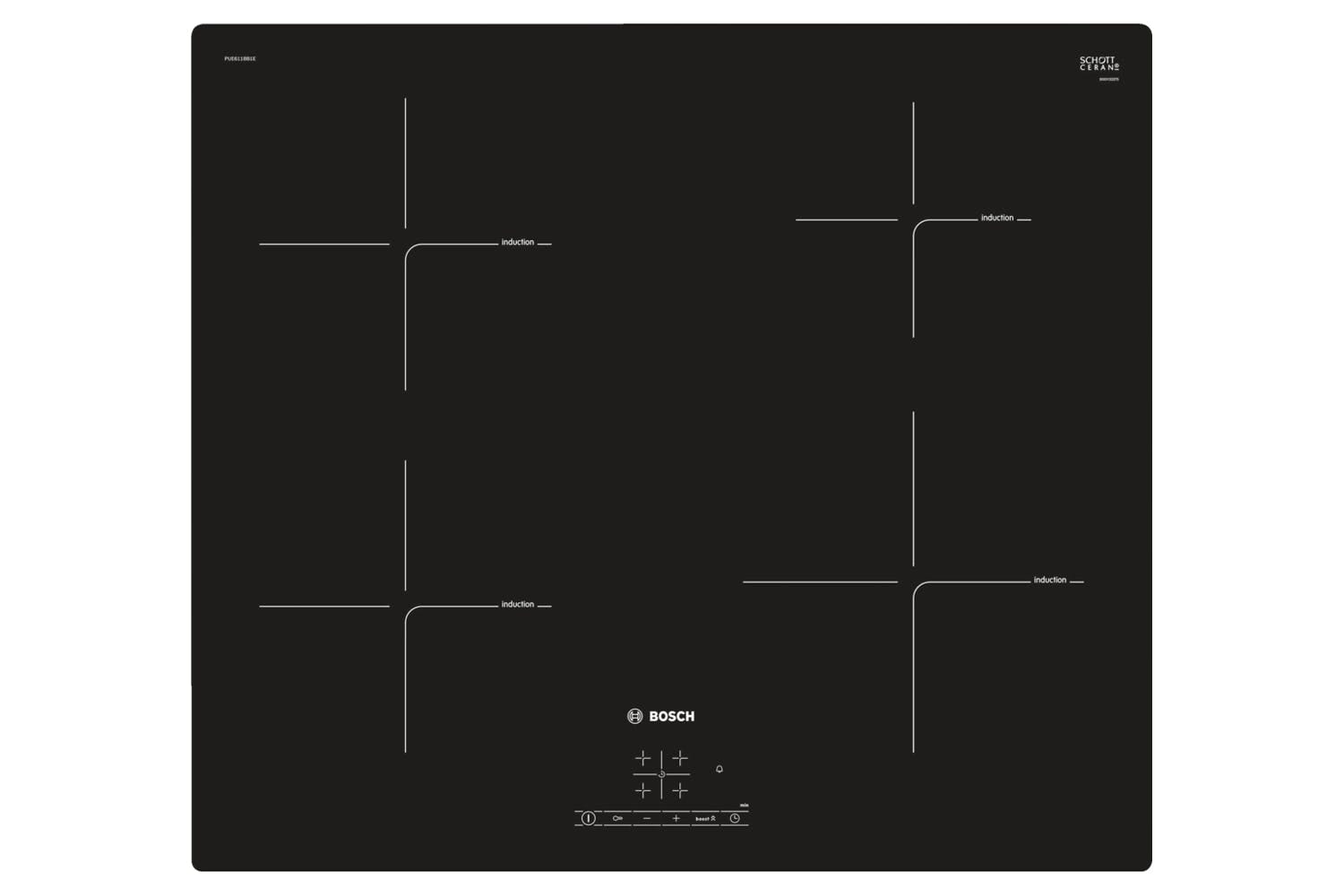 Bosch 60cm 4 Zone Induction Hobs | PUE611BB1E