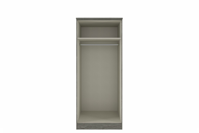 Ember Wardrobe | 2 Doors | Grey Oak/Graphite