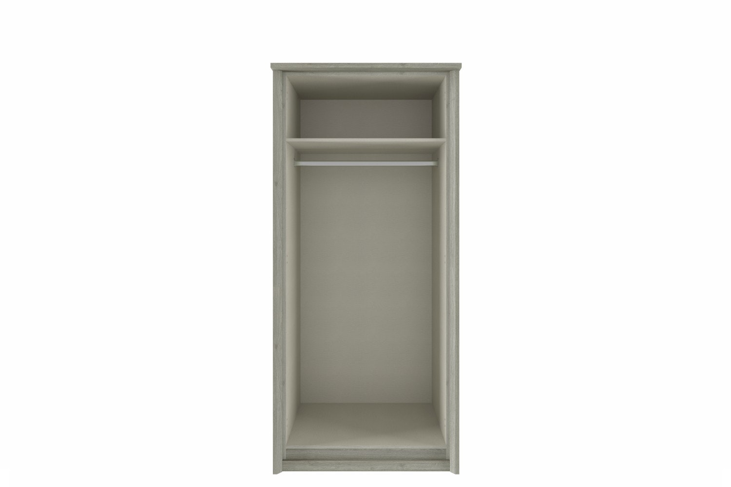 Niko Wardrobe | 2 Doors | Washed Oak/White