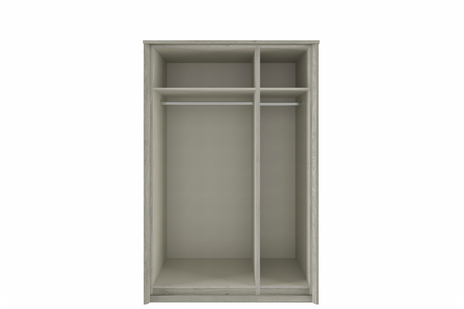 Niko Wardrobe 3 Door | Centre Mirror |  Washed Oak & White