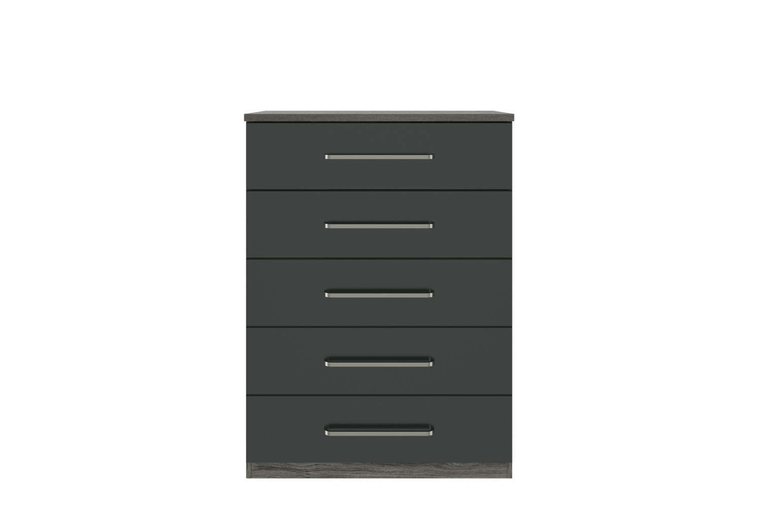 Ember Chest | 5 Drawers | Grey Oak/Graphite