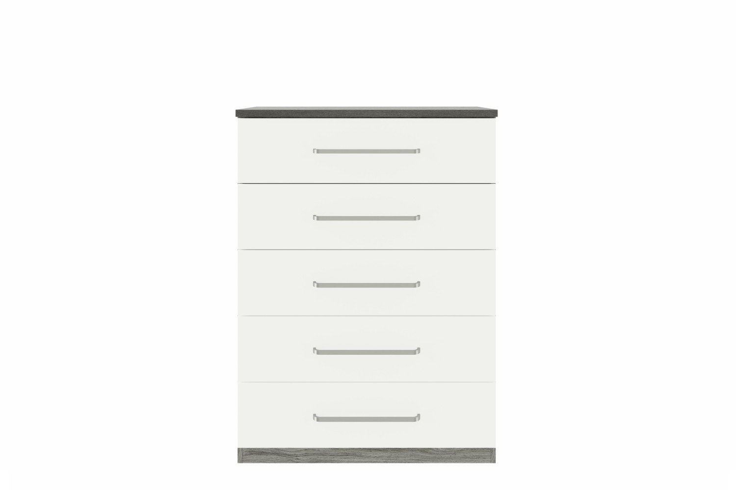 Ember Chest | 5 Drawers | Grey Oak/White