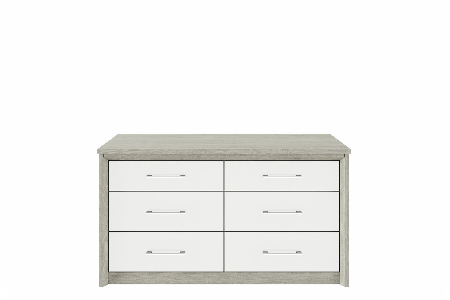 Presley Chest | 6 Drawers | Oak & White