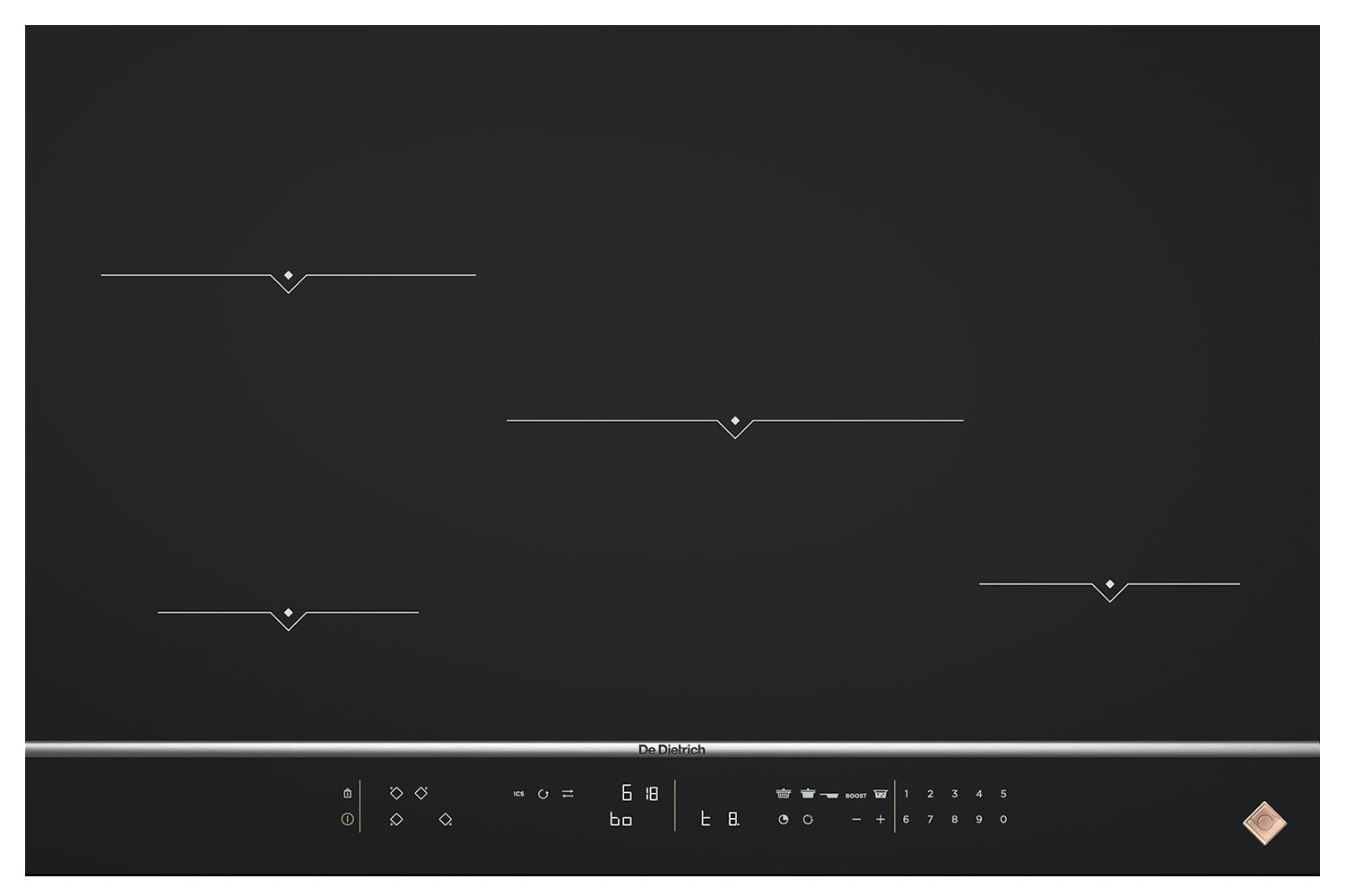 De Dietrich 80cm 4 Zone Induction Hob | DPI7870X