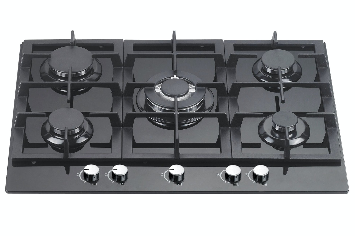 Cata 70cm Gas on Glass Hob | UBGOG70BK