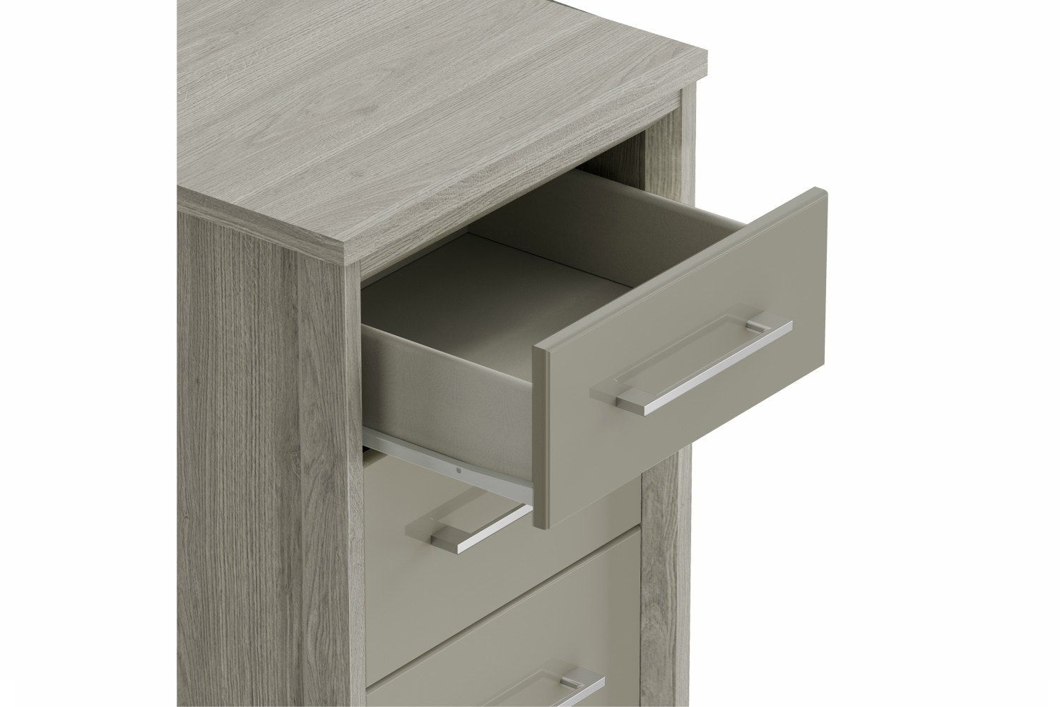 Presley Chest | 5 Drawers | Oak & Pale Grey