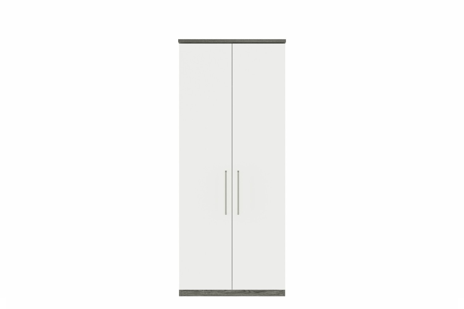 Gianna Wardrobe | 2 Doors | Grey Oak & White Gloss