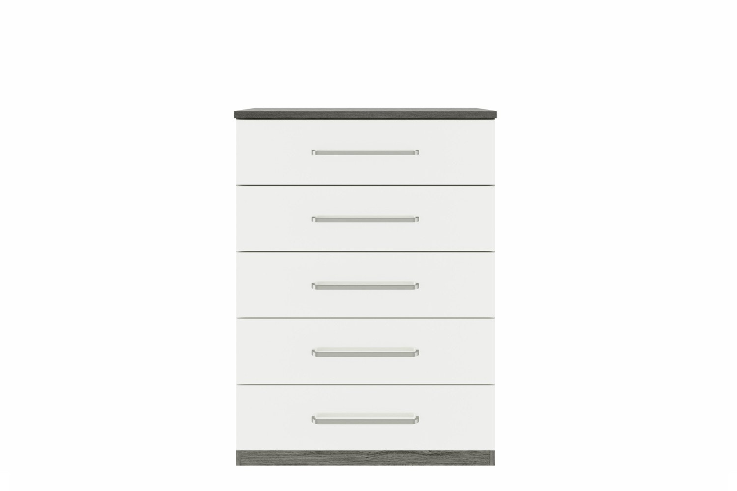 Gianna Chest | 5 Drawers | Grey Oak & White Gloss