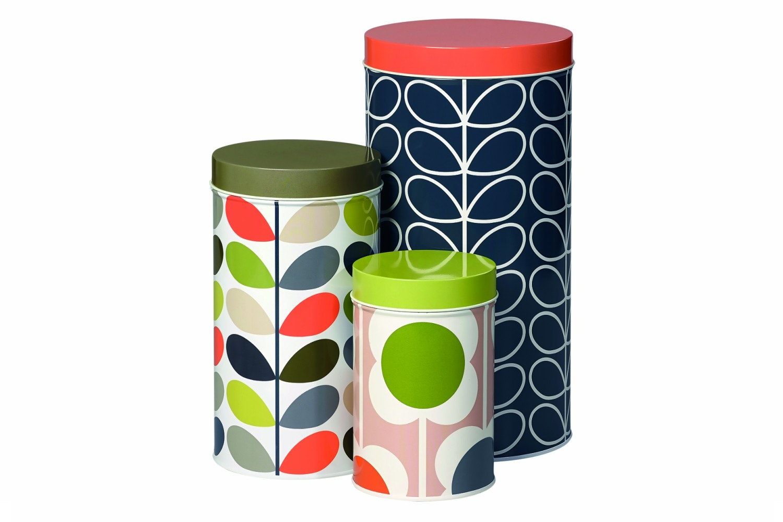Storage Tins Set of 3 Assorted Stem