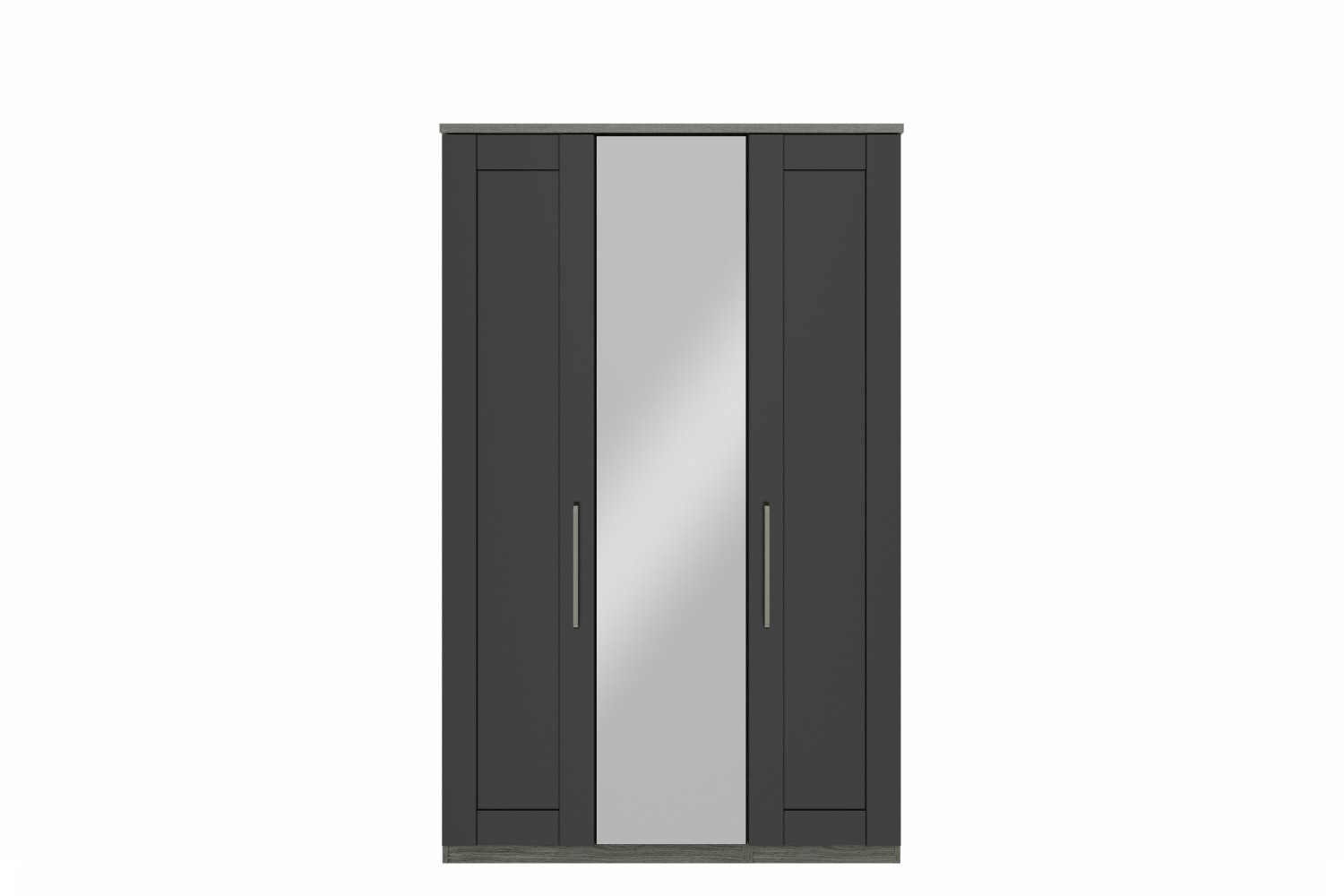 Ember Wardrobe | 3 Doors | Centre Mirror | Grey Oak/Graphite