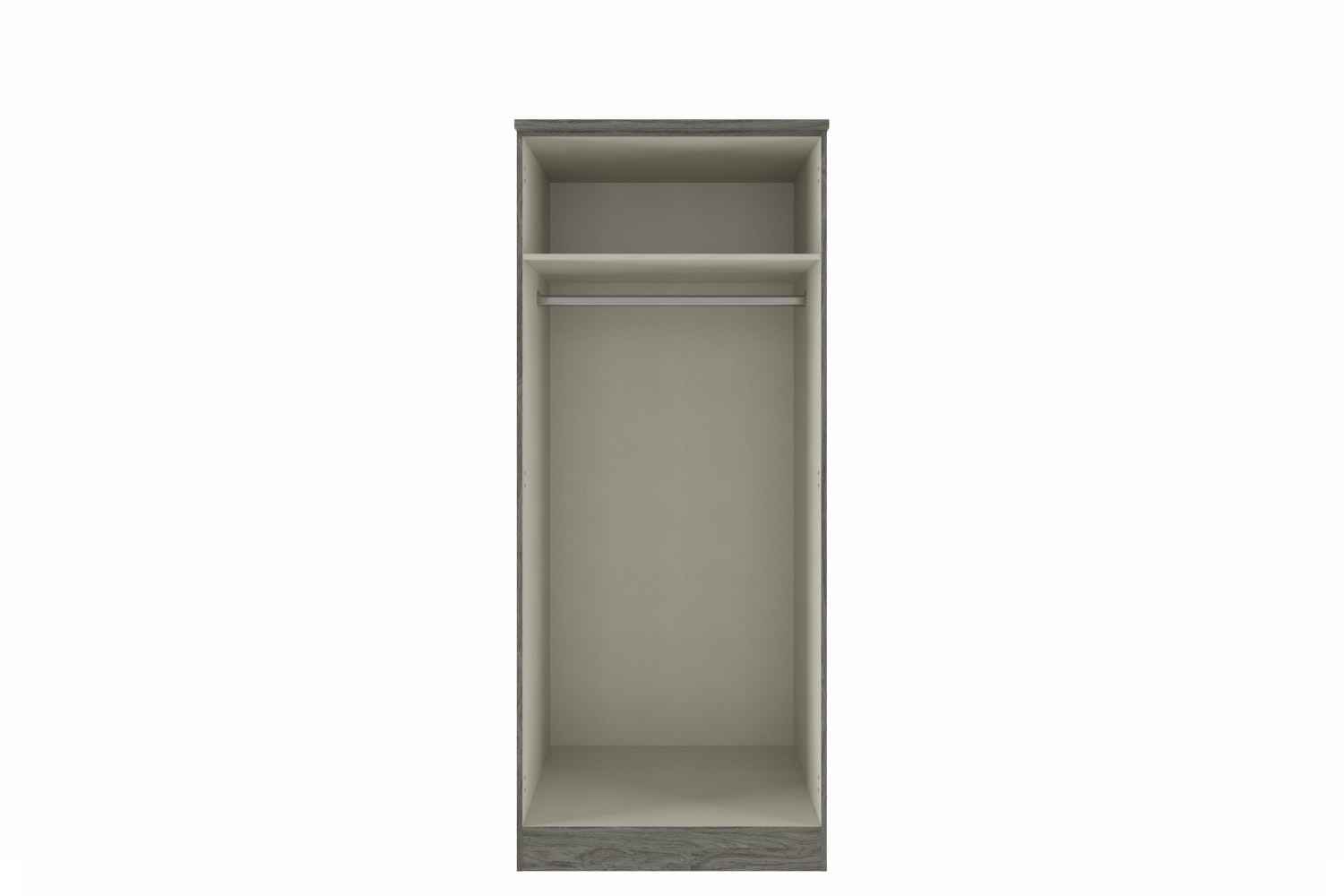 Gianna Wardrobe | 2 Doors | Grey Oak & Grey Gloss