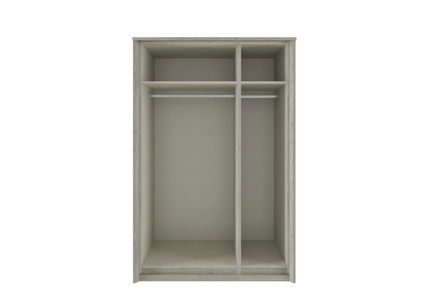 Presley Wardrobe | 3 Doors | Centre Mirror | Oak & White
