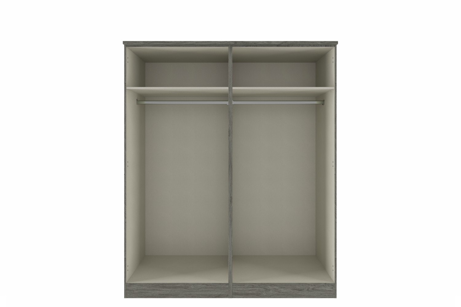Gianna Wardrobe | 4 Doors | Centre Mirror | Grey Oak & Grey Gloss