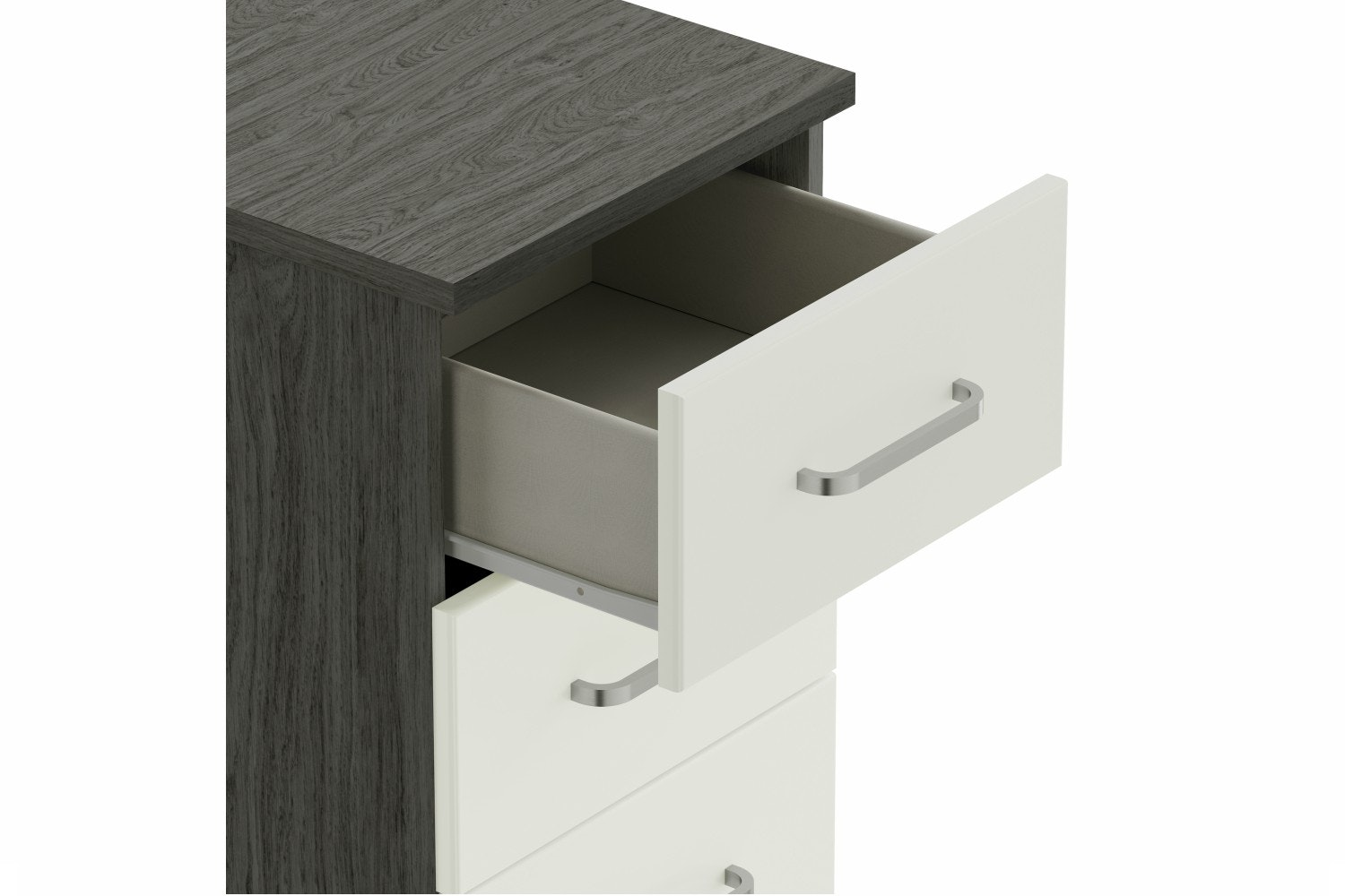 Ember Chest | 3 Drawers | Grey Oak/White