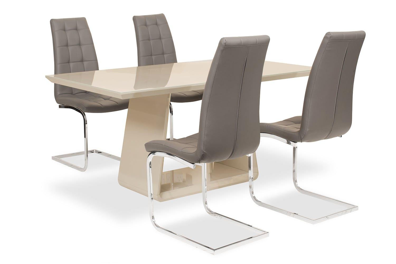 Strange Cara 5 Piece Dining Set With Elise Chair Grey Bralicious Painted Fabric Chair Ideas Braliciousco