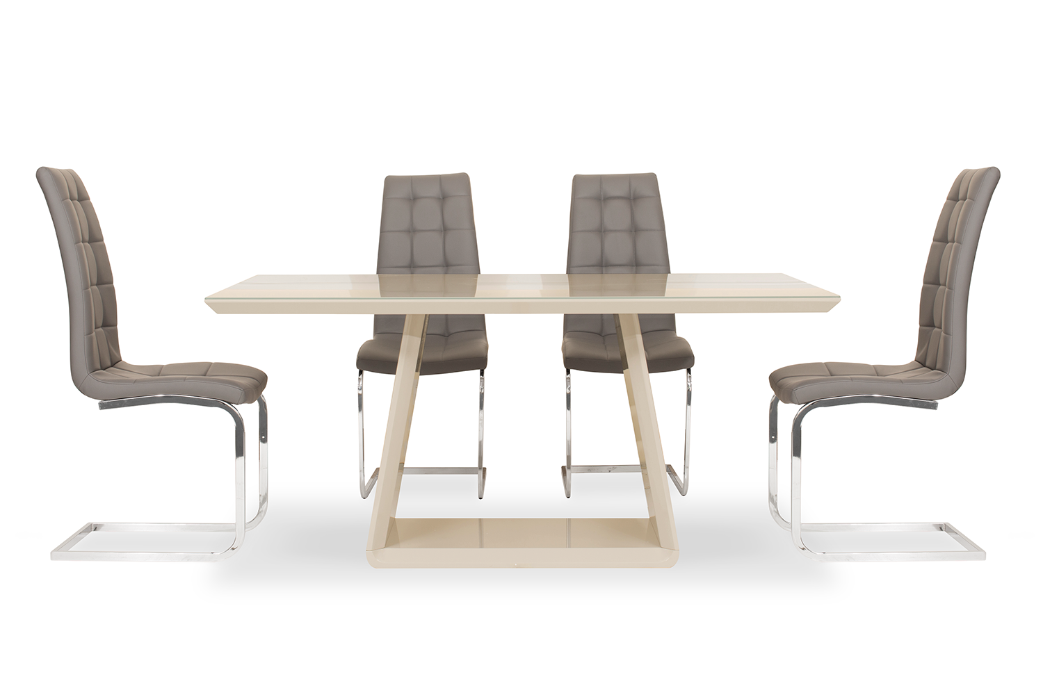 Cara 5 Piece Set With Elise Chair | Grey