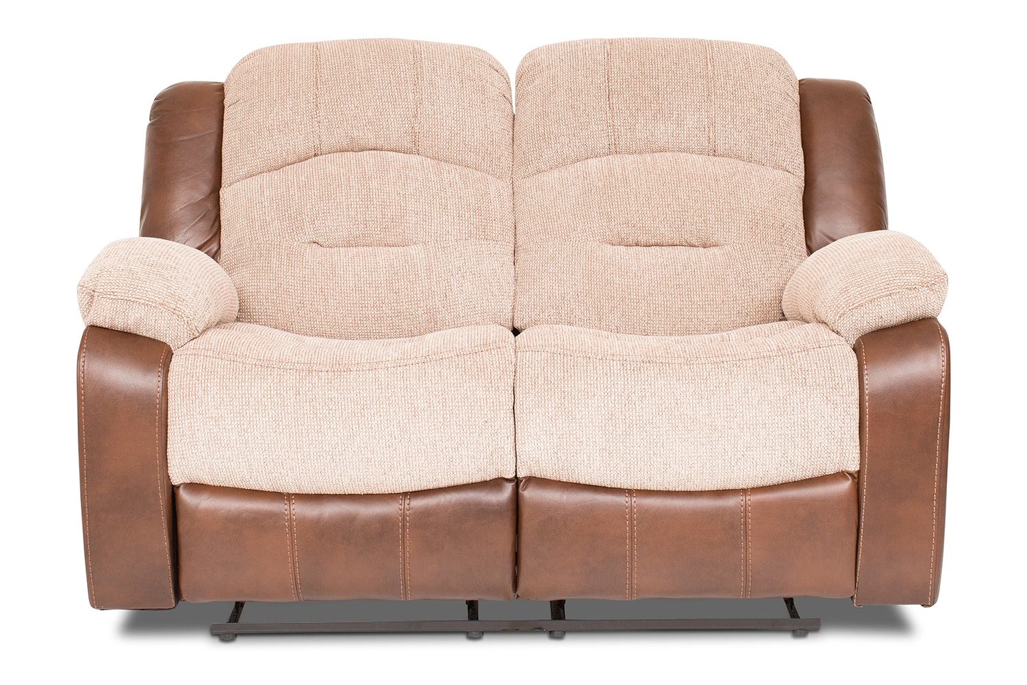 Mason 2 Seater Recliner | Tan & Beige