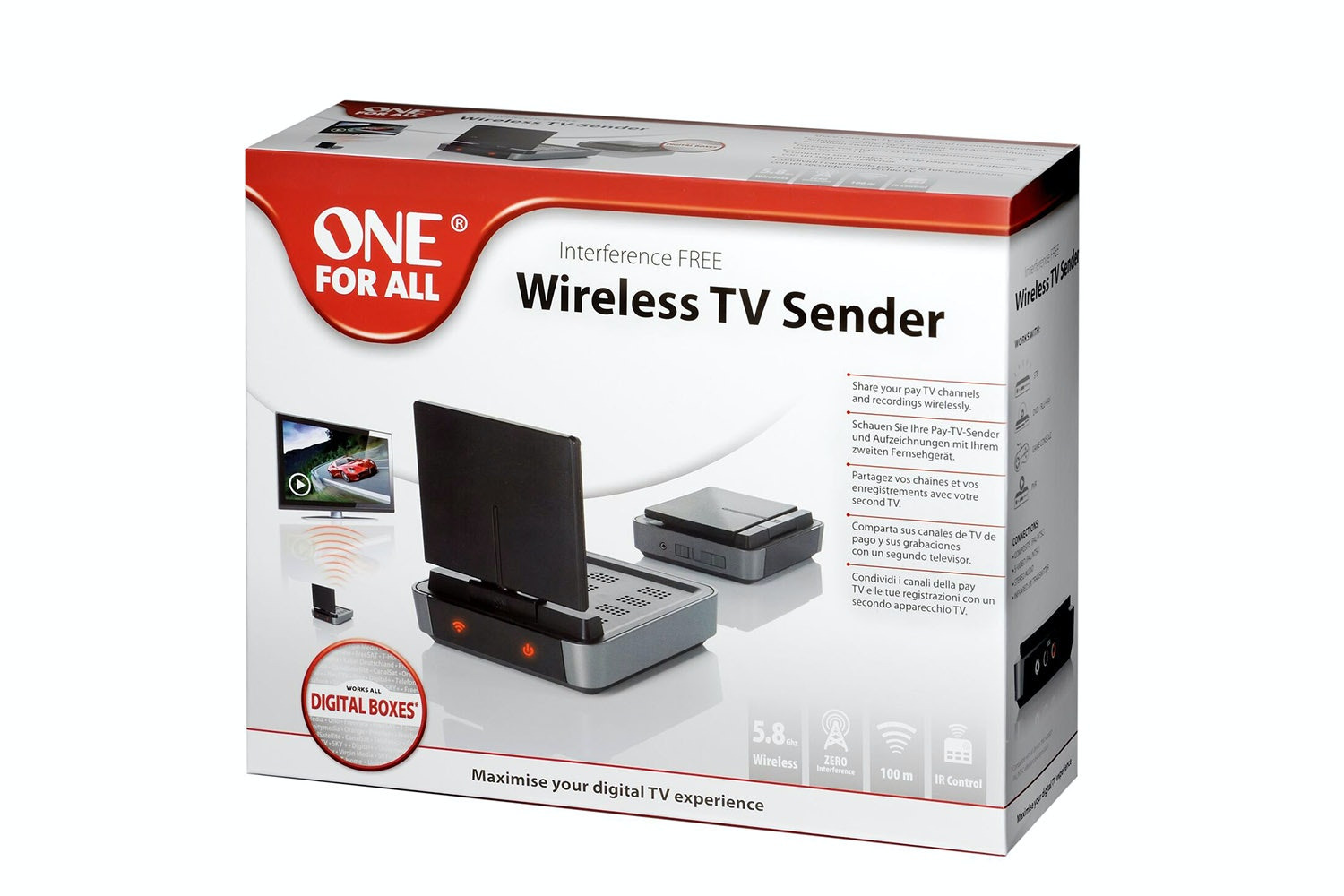 One For All Wireless TV Sender | Black