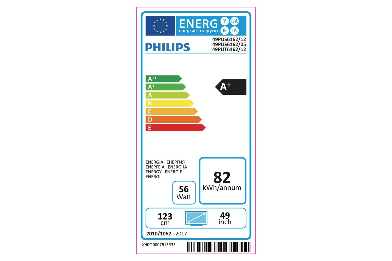 "Philips 49"" 4K Ultra Slim Smart LED TV   49PUS6162/12"