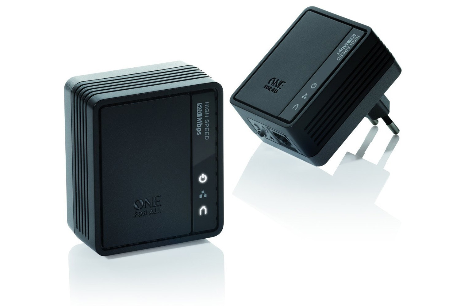 One For All SV 2020 Internet to TV Link Powerline Adapter | Black