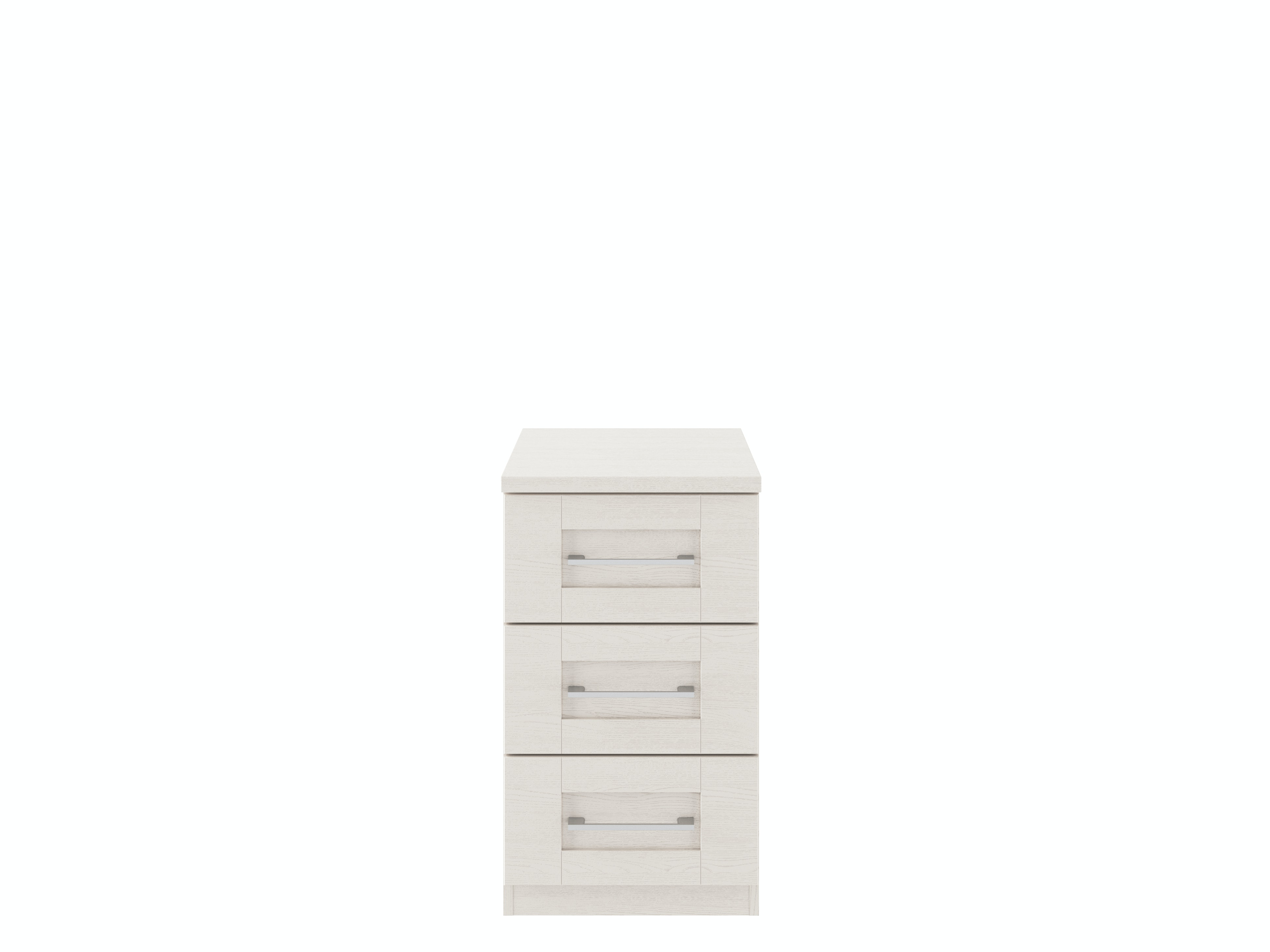 Monaco Cashmere Narrow Bedside | 3 Drawers