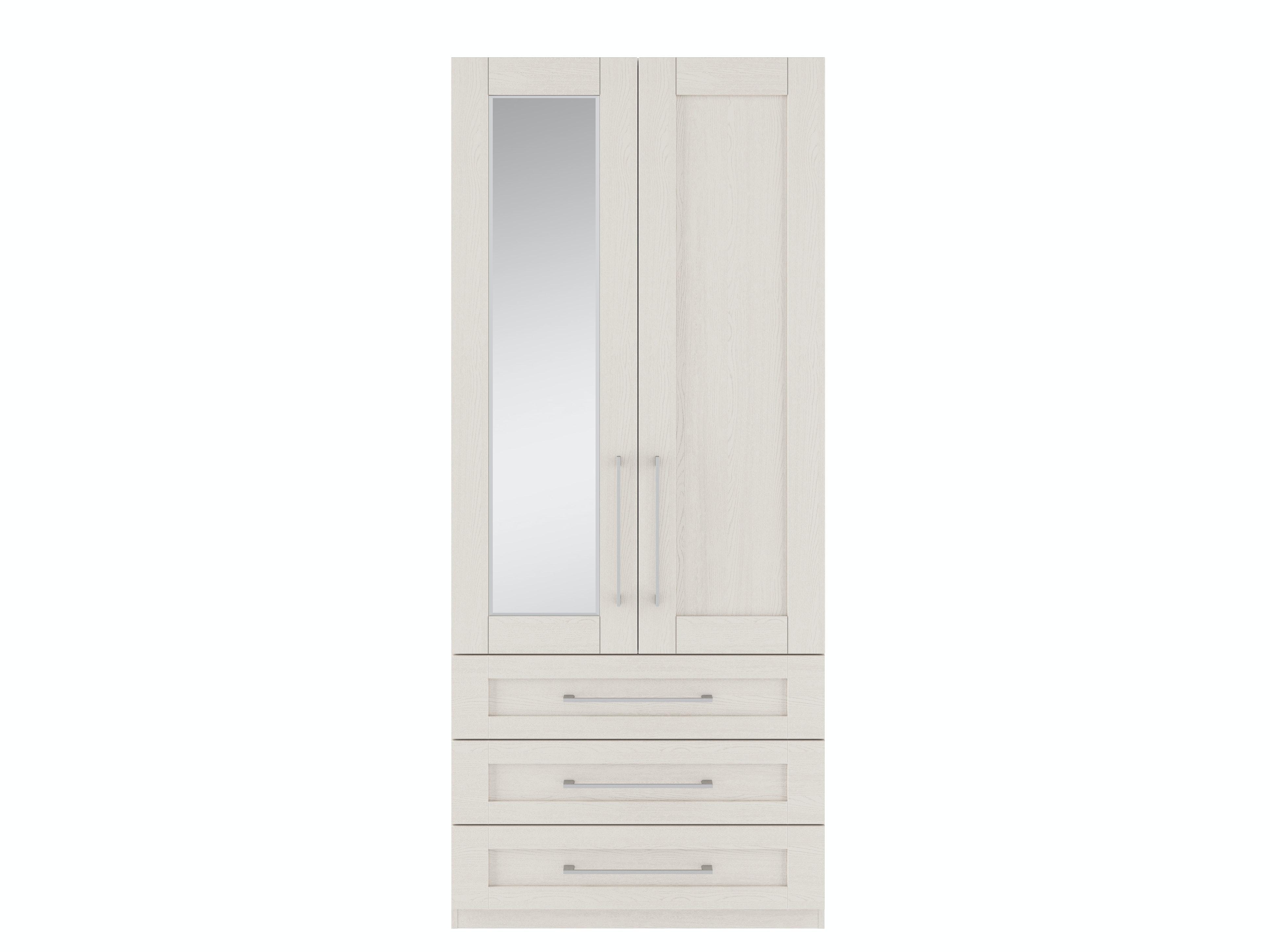 Monaco Cashmere Wardrobe   2 Doors   3 Drawers   Left Hand Door