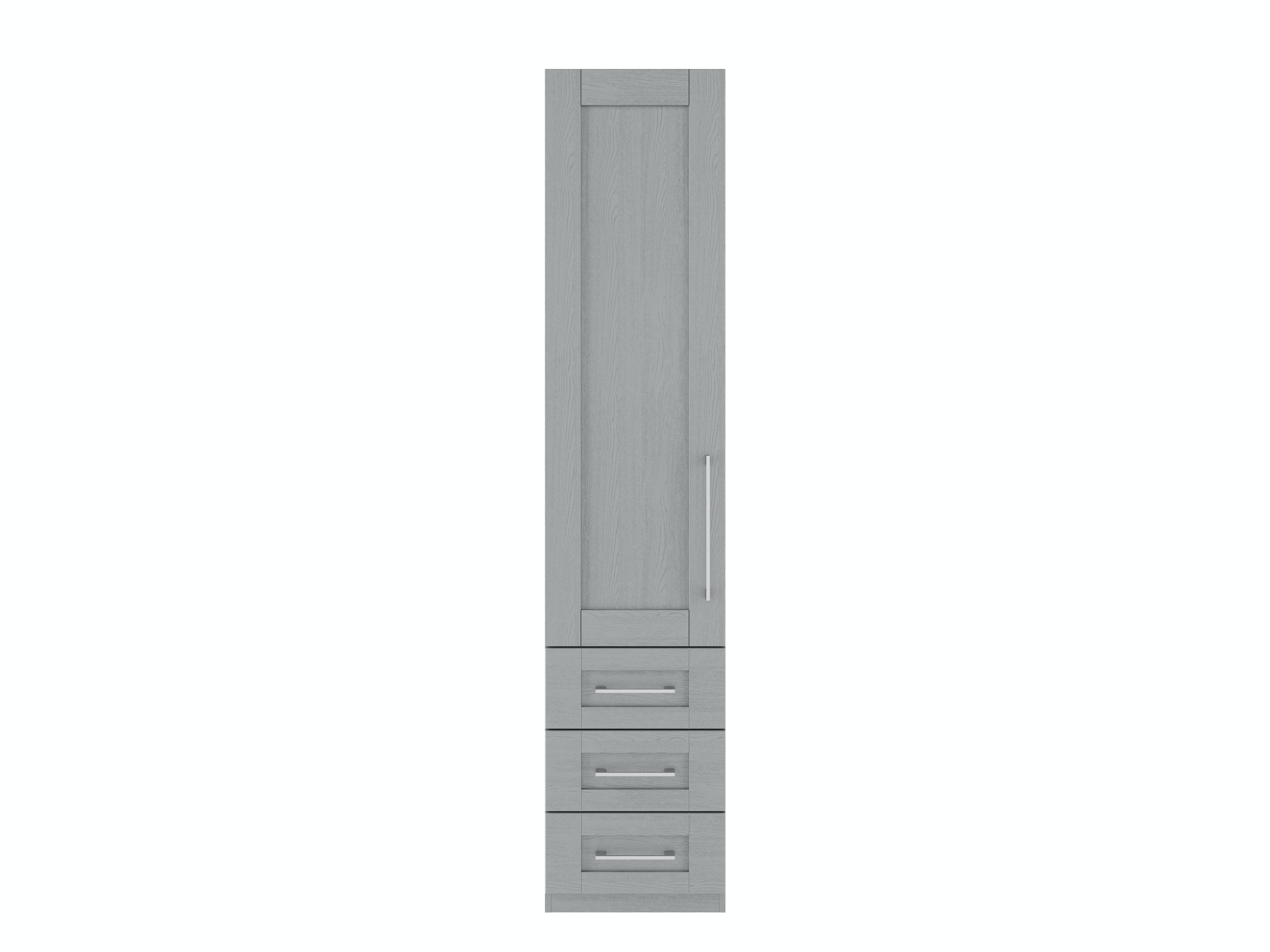 Monaco Wardrobe | 1 Door | 3 Left Hand Drawers | Dust Grey