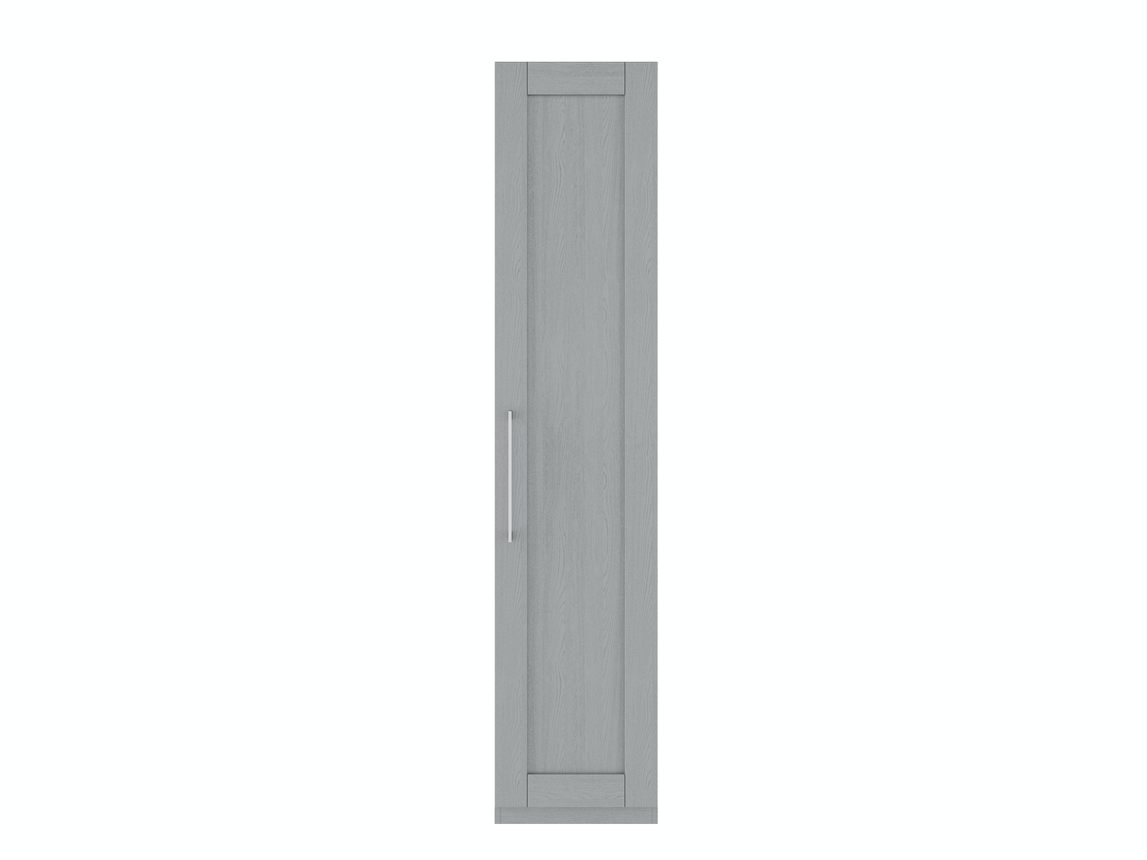 Monaco 1 Right Hand Door Wardrobe | Dust Grey