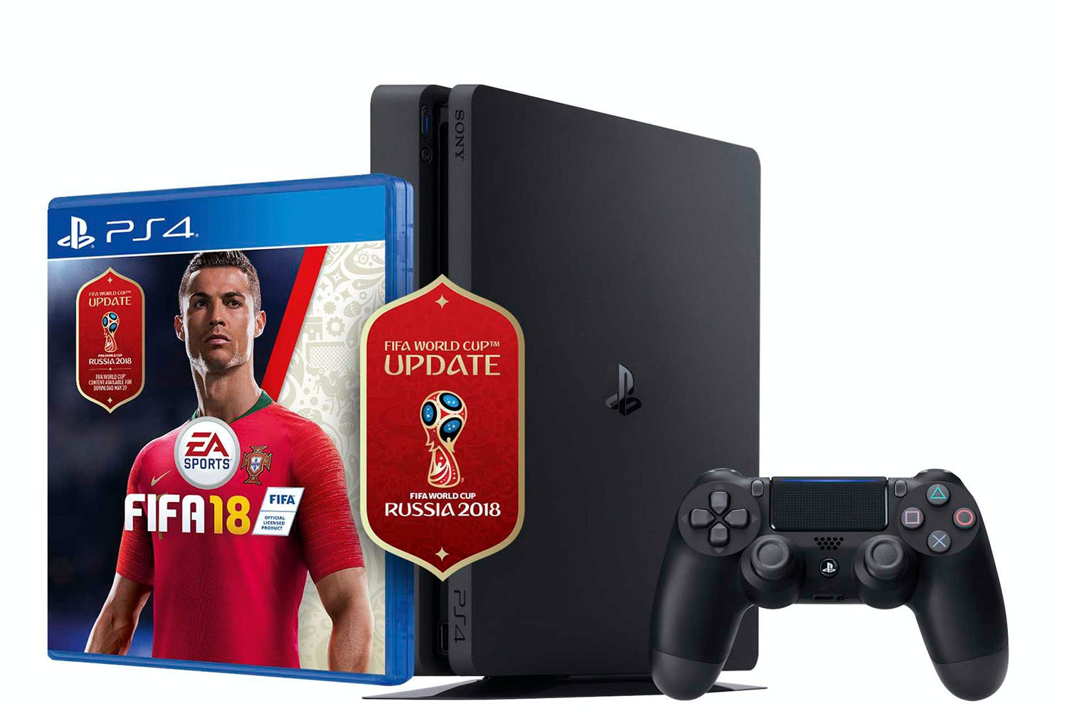 PS4 500GB Black with FIFA 18 World Cup edition