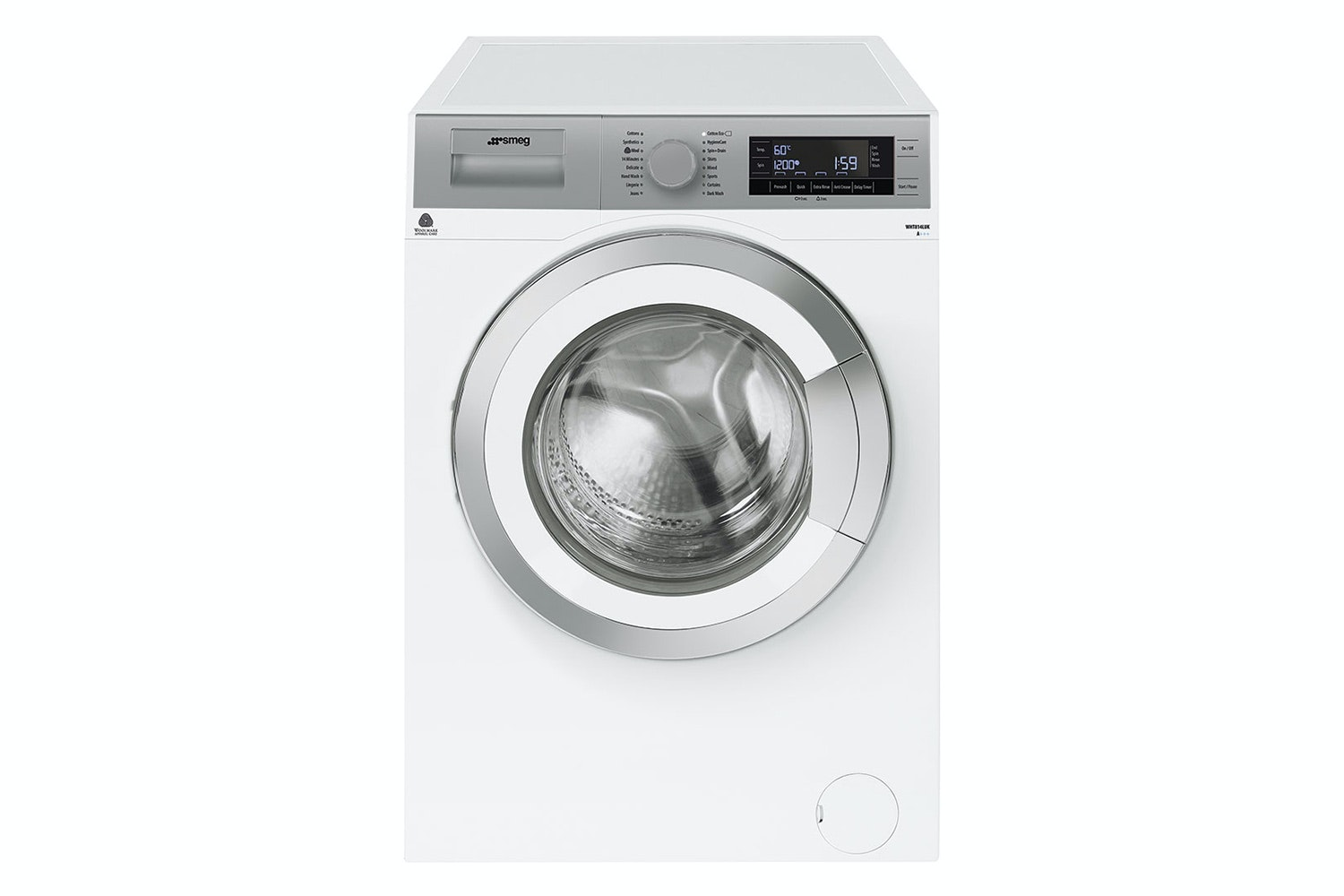 Smeg Freestanding 8kg Washing Machine | White & Silver