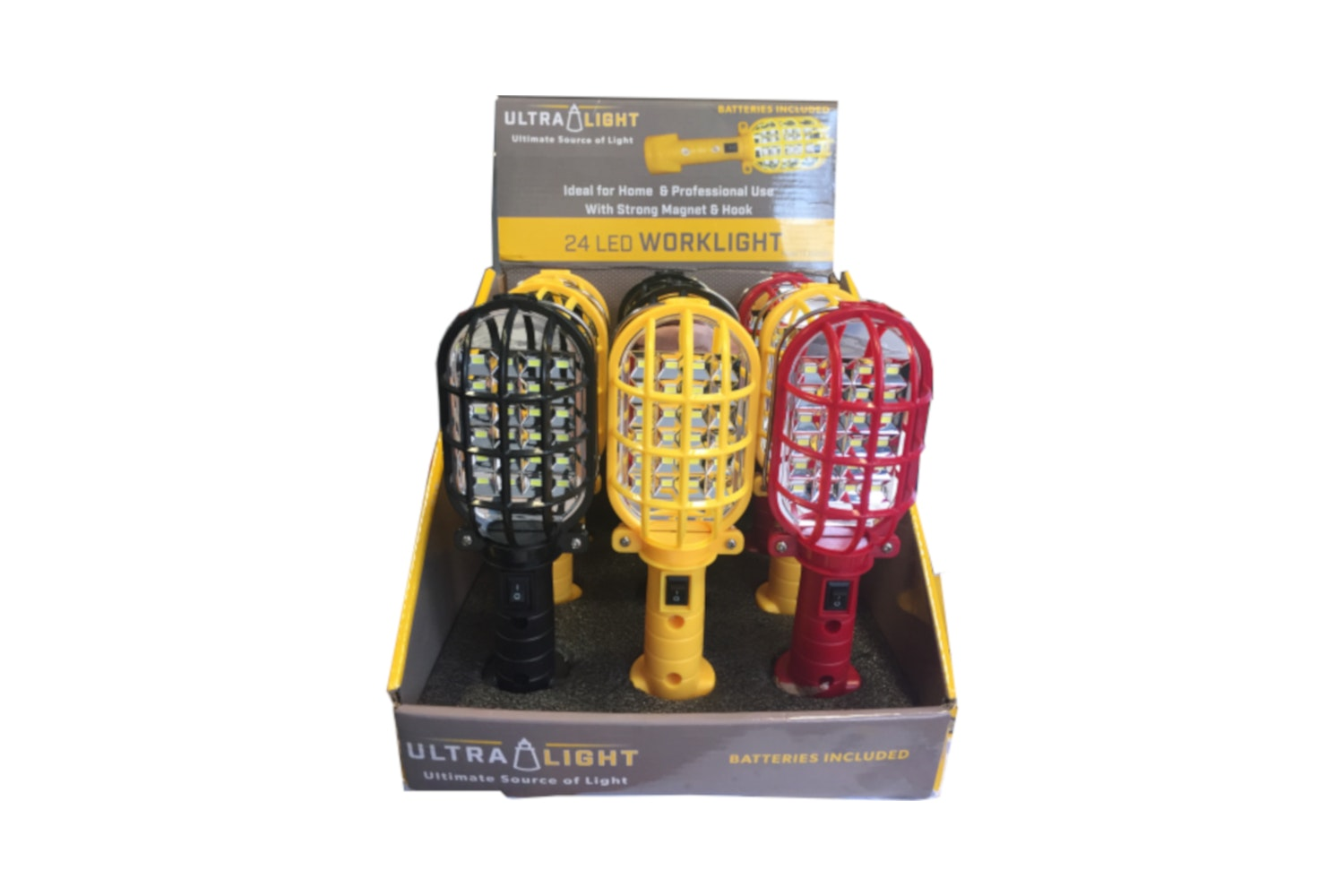 LED Worklight with Protective Cage