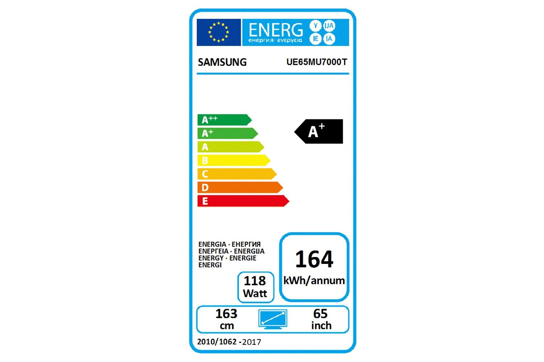 "Samsung UE65MU7000 65"" HDR 1000 4K Ultra HD Certified Smart TV | Silver"
