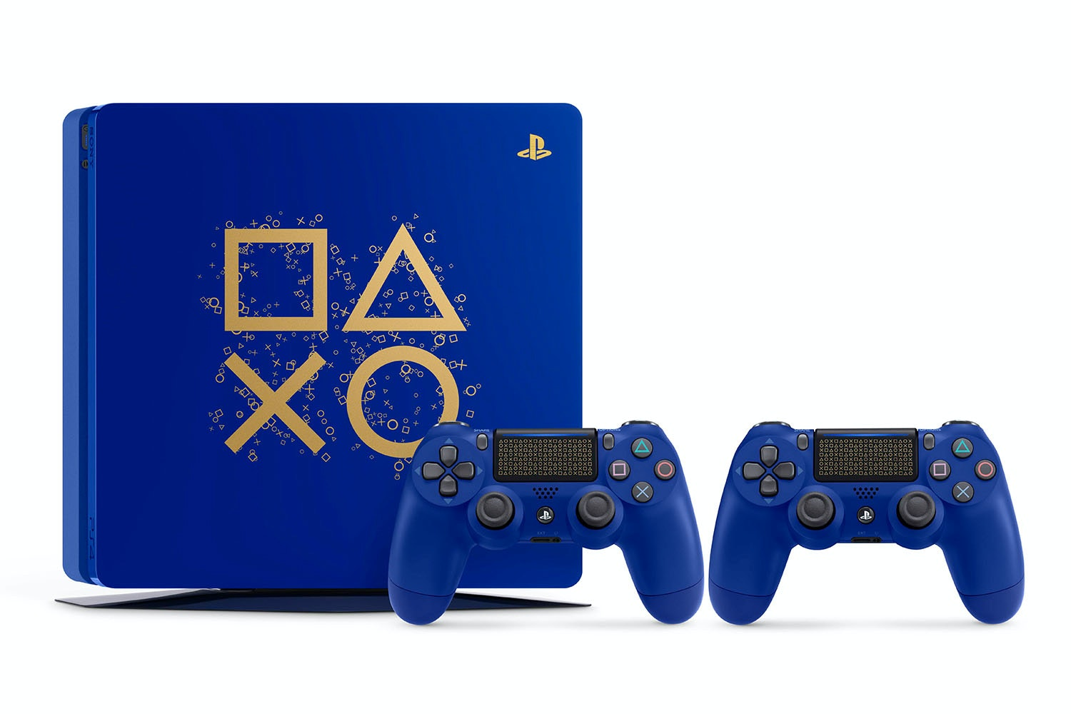 PS4 500GB Limited Editon Days Of Play 2018 | Blue with 2 controllers