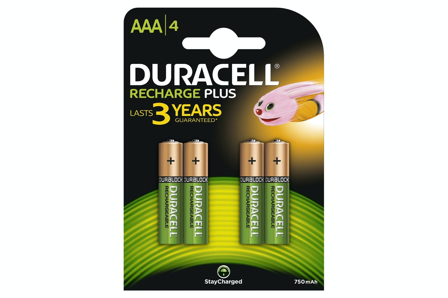 Duracell Rechargeable AAA Battery | 4 Pack