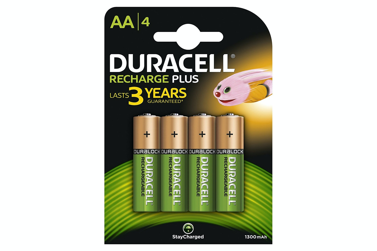 Duracell Rechargeable AA Battery | 4 Pack