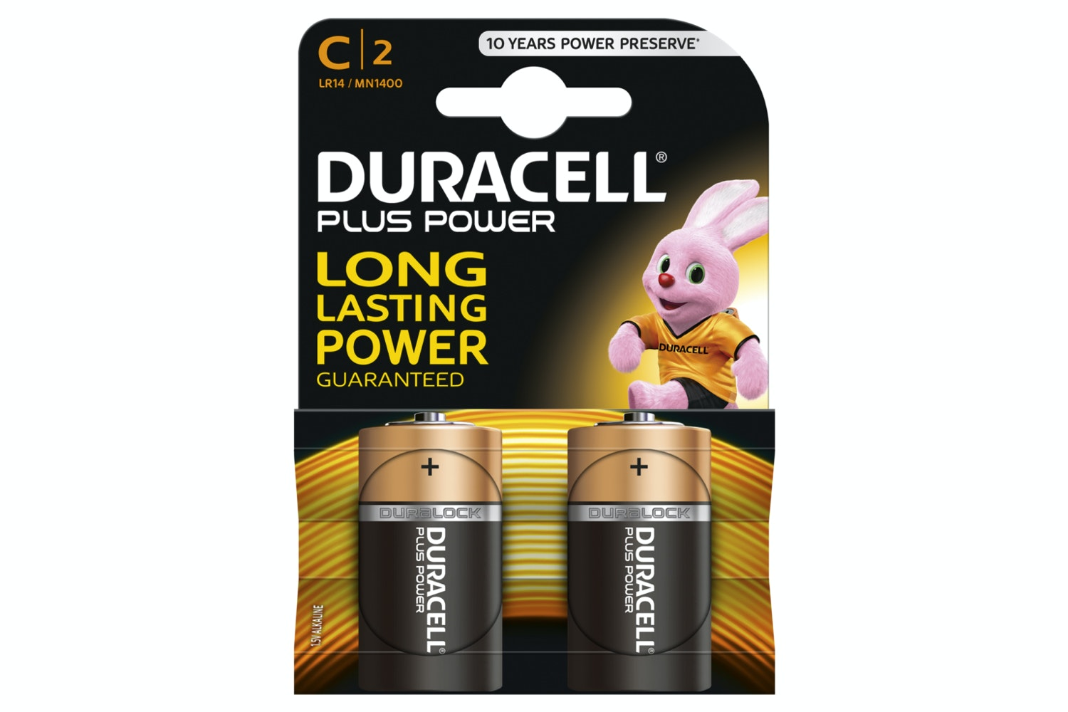 Duracell Plus Power C Battery | 2 Pack