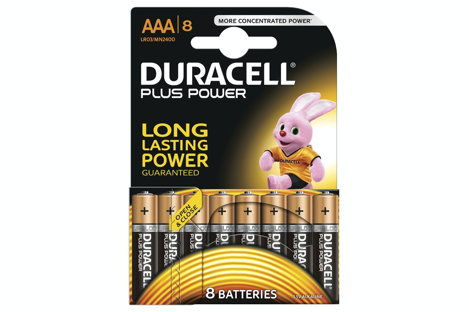 Duracell Plus Power Alkaline AAA Battery | 8 Pack