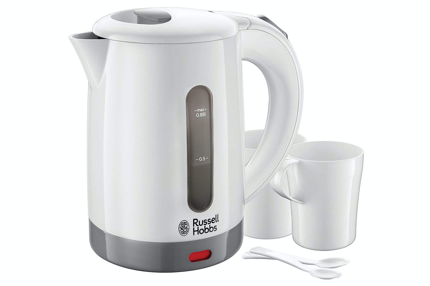 Russell Hobbs 0.85L Compact Travel Kettle | White