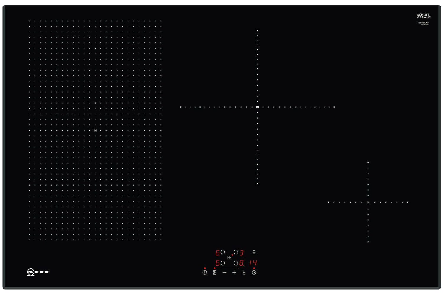 Neff 80cm Flex Induction Hob | T58UB10X0