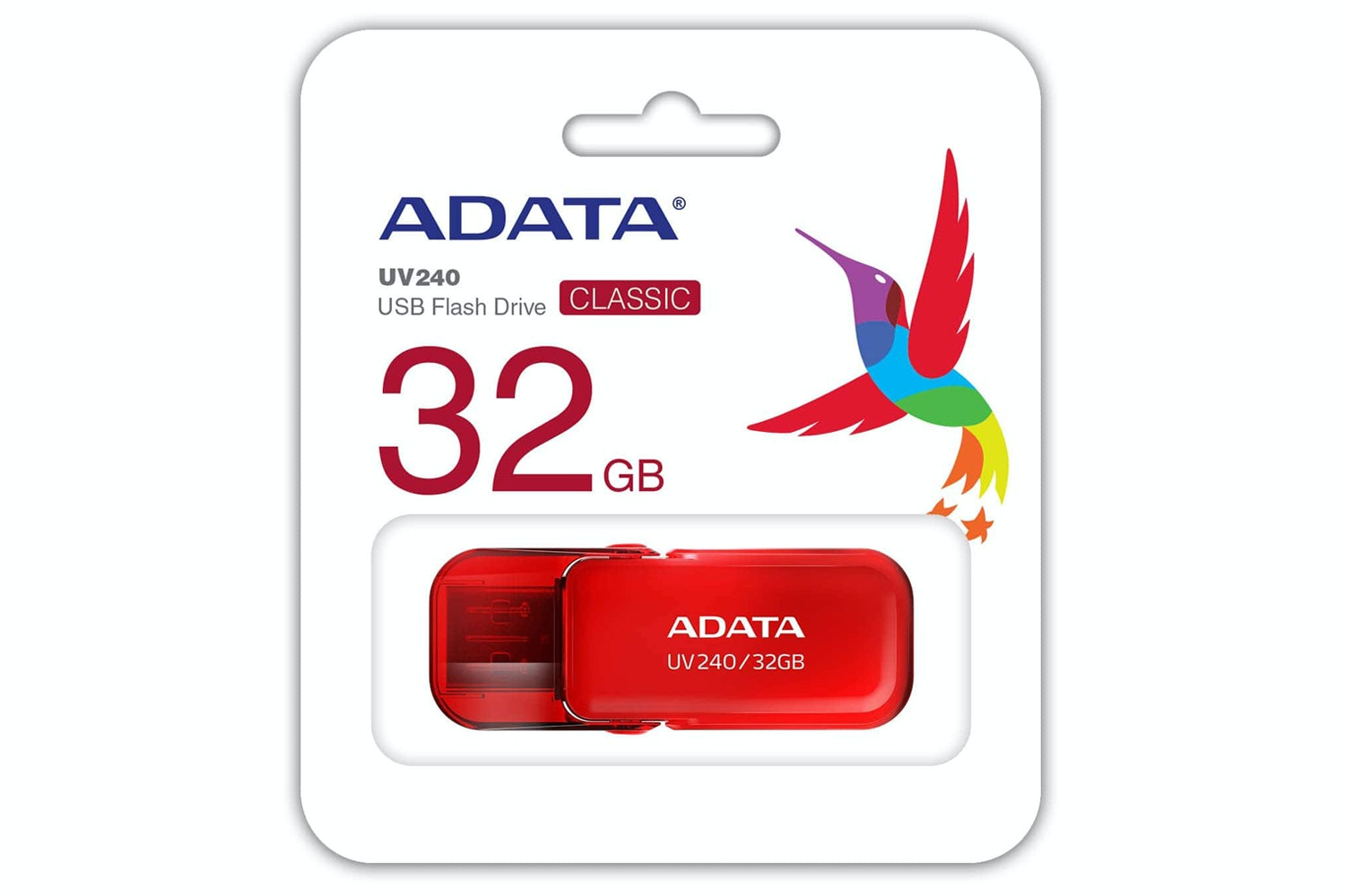 ADATA UV240 USB Flash Drive | 32GB | Red