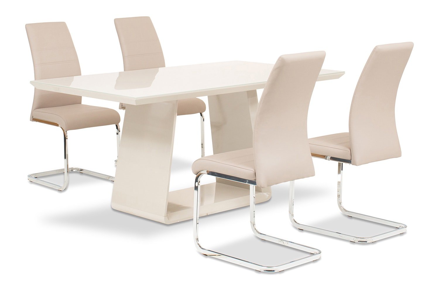 Cara 5 Piece Set With Dawson Chairs | Taupe
