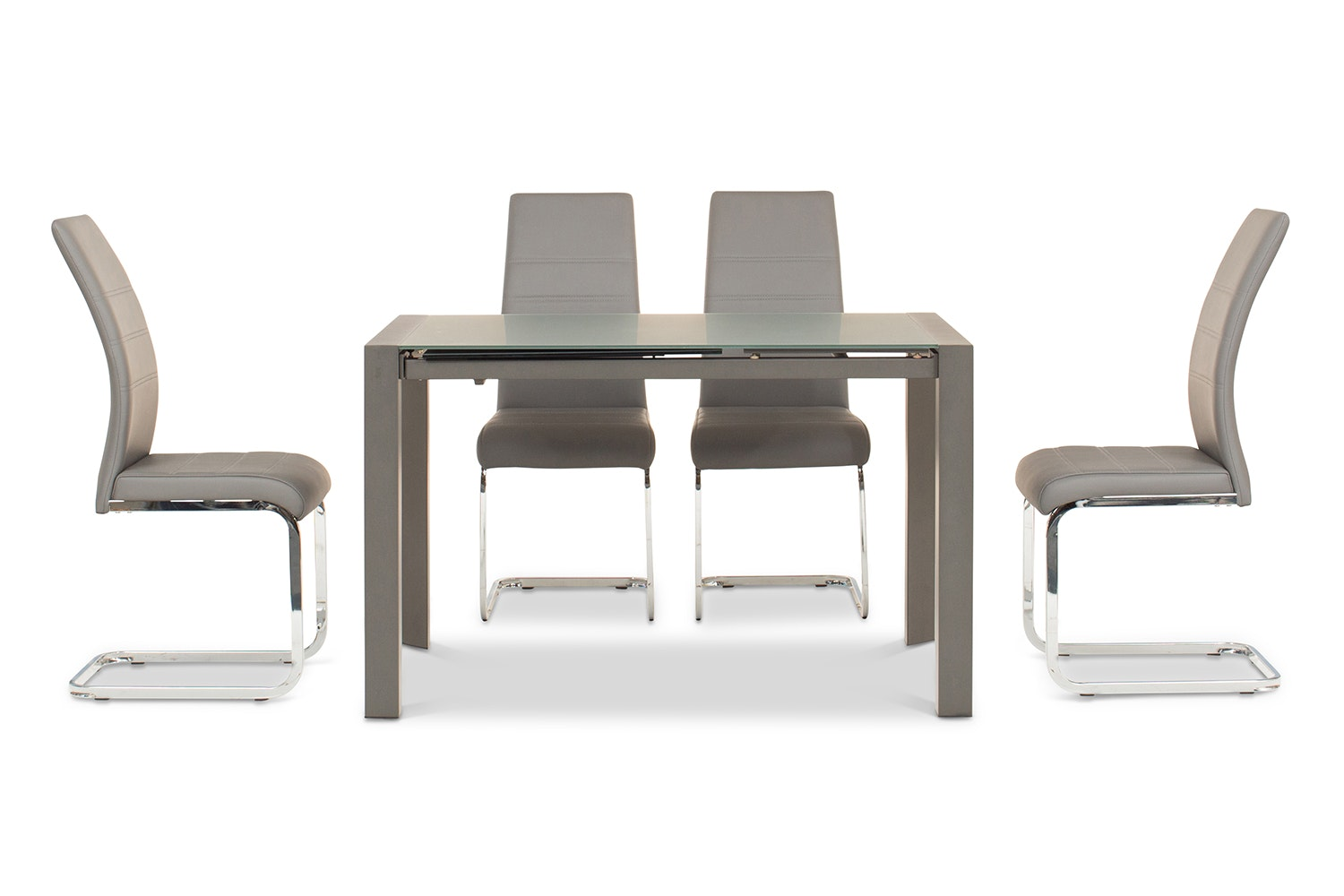 Slide 5 Piece Set With Dawson Chairs | Grey